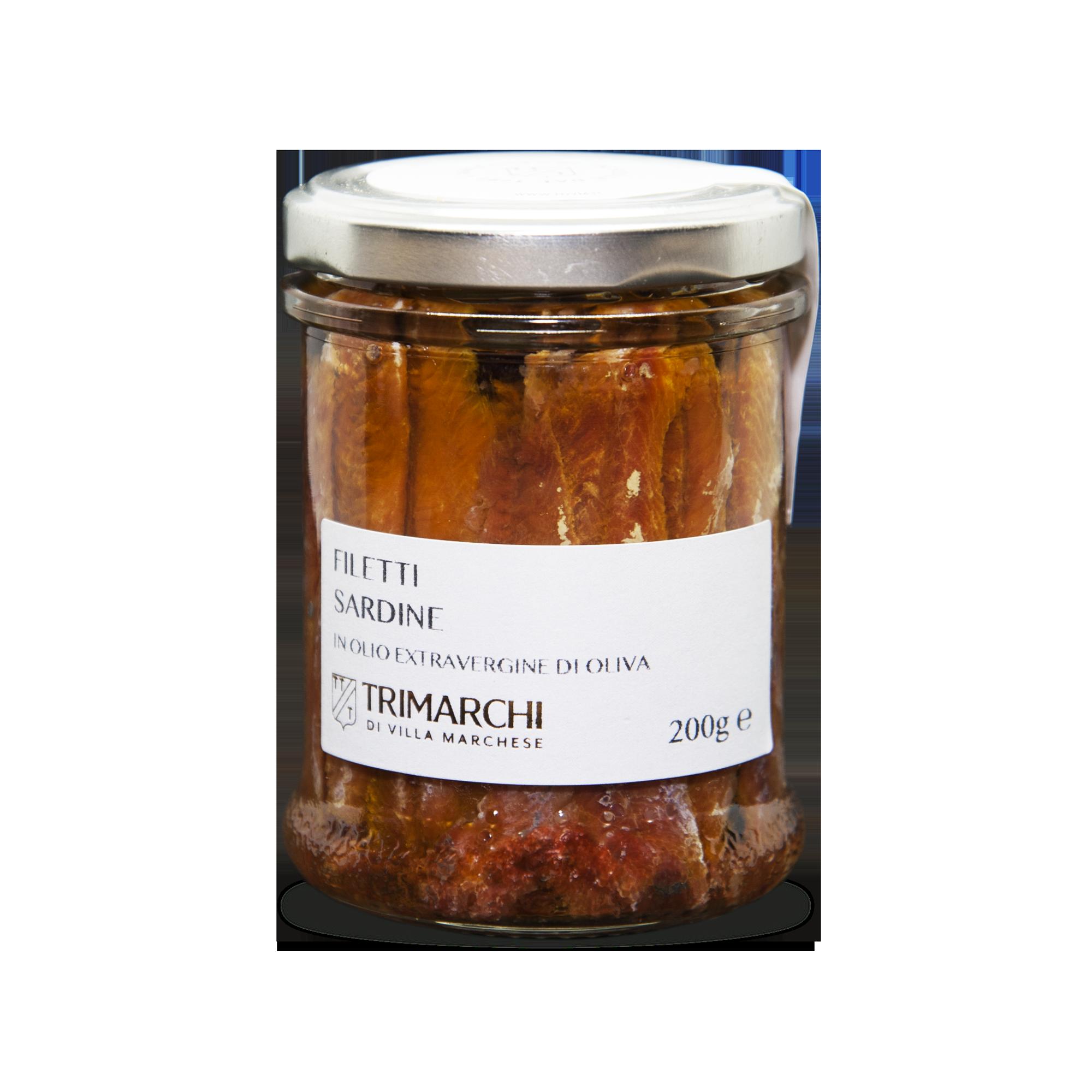 Filetti di Sardine in olio extravergine di oliva